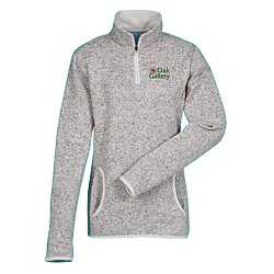 View a larger, more detailed picture of the Heathered Fleece Pullover - Ladies