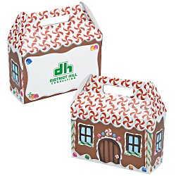View a larger, more detailed picture of the House Shape Box - Gingerbread