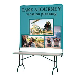 View a larger, more detailed picture of the Tabletop Banner System w Tall Back Wall - 6