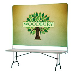 View a larger, more detailed picture of the Tabletop Banner System w Tall Back Wall - 8