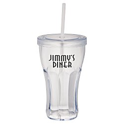 View a larger, more detailed picture of the Fountain Soda Tumbler with Straw - 16 oz - 24 hr