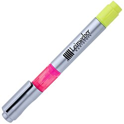 View a larger, more detailed picture of the Triple Threat Pen Highlighter - 24 hr