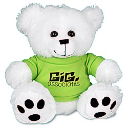 View a larger, more detailed picture of the Big Paw Bear - White - 24 hr