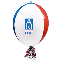View a larger, more detailed picture of the Vinyl Point of Purchase Balloon - Red White Blue
