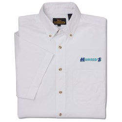 View a larger, more detailed picture of the Short Sleeve Poplin Shirt - Men s - Closeout
