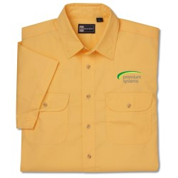 View a larger, more detailed picture of the Blue Generation 2-Pocket SS Poplin Shirt-Men s-Closeout