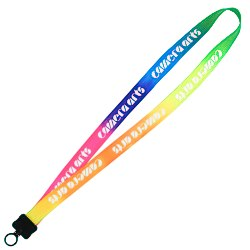 View a larger, more detailed picture of the Tie-Dye Multicolor Lanyard - 3 4 - Plastic O-Ring - 24 hr