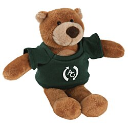 View a larger, more detailed picture of the Mascot Beanie Animal - Brown Bear - 24 hr