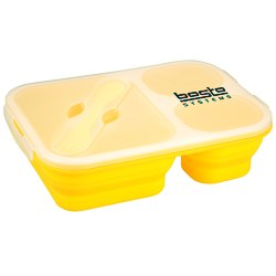 View a larger, more detailed picture of the Gourmet Trio Collapsible Lunch Box