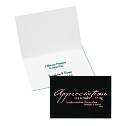 View a larger, more detailed picture of the Appreciation Quote Note Card