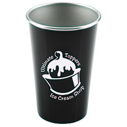 View a larger, more detailed picture of the Stainless Steel Pint Glass - 16 oz