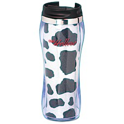 View a larger, more detailed picture of the Hollywood Travel Tumbler - Cow - 14 oz