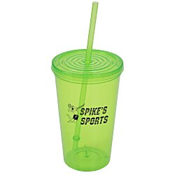 View a larger, more detailed picture of the Economy Tumbler with Straw - 20 oz