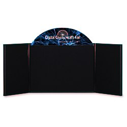 View a larger, more detailed picture of the Briefcase Tabletop Display with Curved Header - 18 x 48
