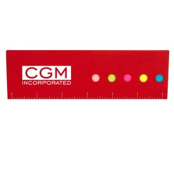 View a larger, more detailed picture of the Bright Flag Ruler Sticky Set - Closeout