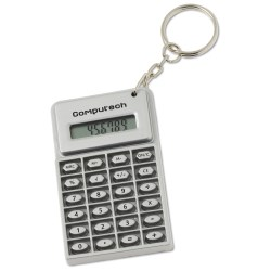View a larger, more detailed picture of the Mini Flex Calculator Key Tag - Closeout