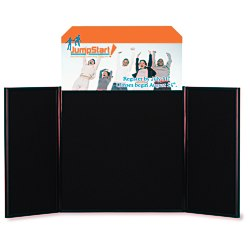 View a larger, more detailed picture of the Briefcase Tabletop Display w Octagon Header - 24 x 48