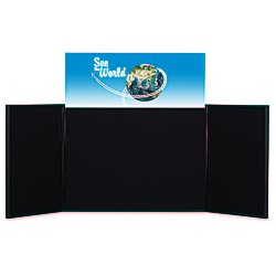 View a larger, more detailed picture of the Briefcase Tabletop Display with Rect Header - 24 x 64