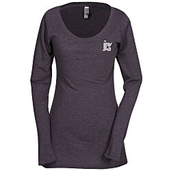 View a larger, more detailed picture of the Next Level Tri-Blend LS Scoop Tee - Ladies - Colors