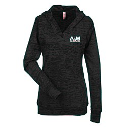 View a larger, more detailed picture of the Next Level Burnout Hoodie - Ladies