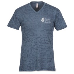 View a larger, more detailed picture of the Next Level Burnout V Neck Tee - Men s