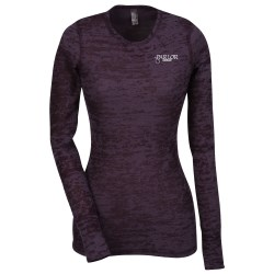 View a larger, more detailed picture of the Next Level Burnout LS Thermal Tee - Ladies