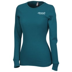 View a larger, more detailed picture of the Next Level Soft LS Thermal Tee - Ladies - Screen