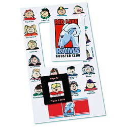 View a larger, more detailed picture of the Bic Mood Frame Magnet - Praise A Child - 24 hr