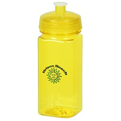 View a larger, more detailed picture of the PolySure Squared-Up Sport Bottle - 16 oz - Translucent