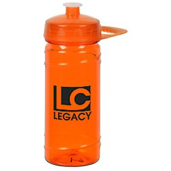 View a larger, more detailed picture of the PolySure Cyclone Sport Bottle with Handle - 16 oz - Translucent