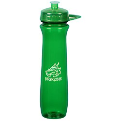 View a larger, more detailed picture of the PolySure Flared Sport Bottle w Handle - 24 oz - Translucent