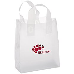 View a larger, more detailed picture of the Soft-Loop Frosted Clear Shopper - 10 x 8 - Foil