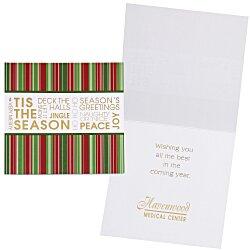 View a larger, more detailed picture of the Tis the Season Greeting Card