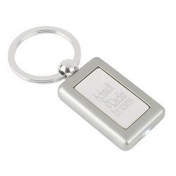 View a larger, more detailed picture of the Metal Lighted Key Tag - Rectangle - Closeout