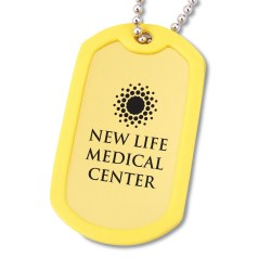 View a larger, more detailed picture of the Anodized Dog Tags w Rubber Edging - Closeout