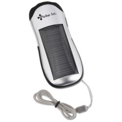 View a larger, more detailed picture of the Solar Powered Flashlight 2 LED- Closeout