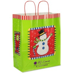 View a larger, more detailed picture of the Snowman Holiday Bag