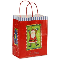 View a larger, more detailed picture of the Holiday Gift Bag - Happy Santa