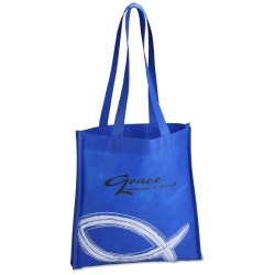 View a larger, more detailed picture of the Spiritual Tote - Fish -Closeout