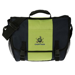 View a larger, more detailed picture of the 4imprint Messenger Bag - Embroidered - Closeout