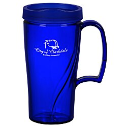 View a larger, more detailed picture of the Arrondi Travel Mug - 16 oz - Translucent