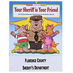 View a larger, more detailed picture of the Your Sheriff is Your Friend Coloring Book