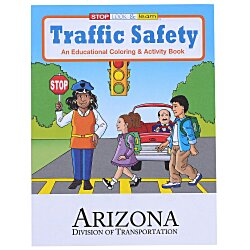 View a larger, more detailed picture of the Traffic Safety Coloring Book