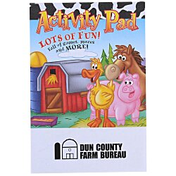 View a larger, more detailed picture of the Activity Pad - Farm Fun