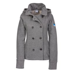 View a larger, more detailed picture of the Independent Trading Co Fleece Pea Coat - Ladies