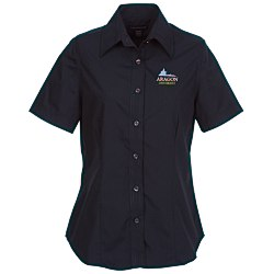 View a larger, more detailed picture of the Preston EZ Care Short Sleeve Tapered Shirt - Ladies