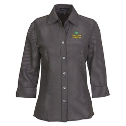 View a larger, more detailed picture of the Brewar EZ-Care Checkered 3 4 Sleeve Shirt - Ladies