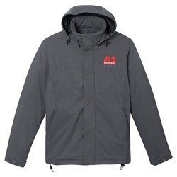 View a larger, more detailed picture of the Bornite Insulated Soft Shell Hooded Jacket - Men s