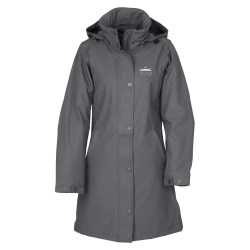 View a larger, more detailed picture of the Bornite Insulated Soft Shell Hooded Jacket - Ladies