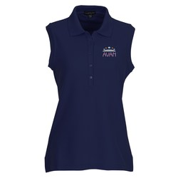 View a larger, more detailed picture of the Brins Sleeveless Polo